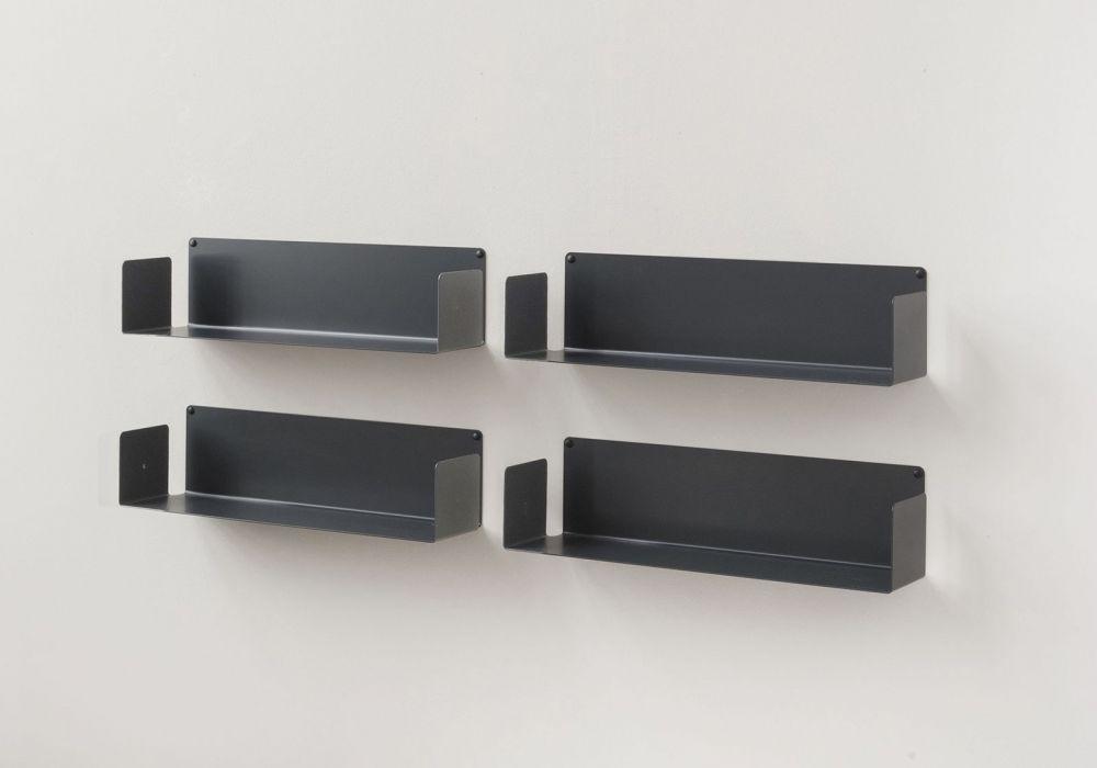 Mensole porta DVD - Set di 4 - 60 cm - Acciaio