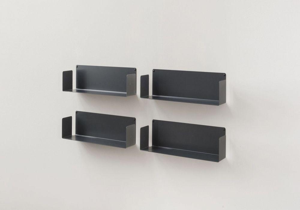 Mensole porta DVD - Set di 4 USDVD - 45 cm - Acciaio