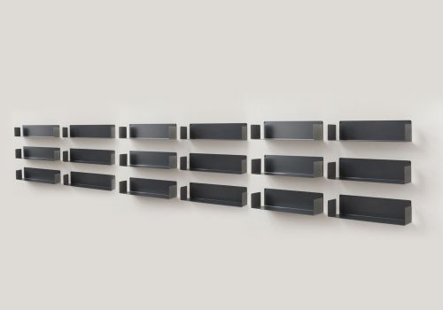 Bookcase Gray - 60 cm - Set...